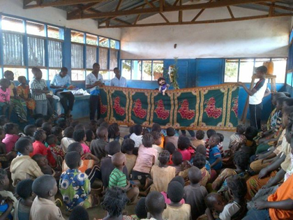 Puppet Show at Orphans Unlimited Children's Sunday School
